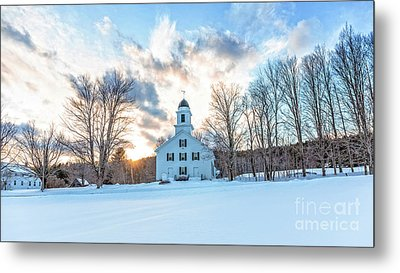 Metal Print featuring the photograph Traditional New England White Church Etna New Hampshire by Edward Fielding