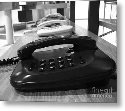 Traditional Telephones Metal Print by Yali Shi
