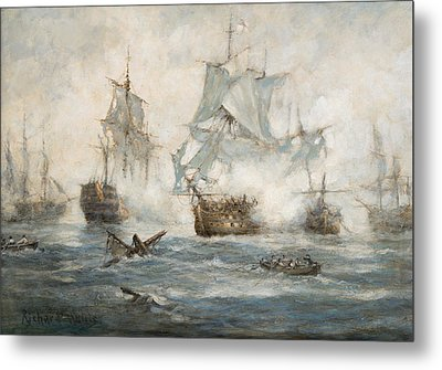 Trafalgar   End Game Metal Print by Richard Willis
