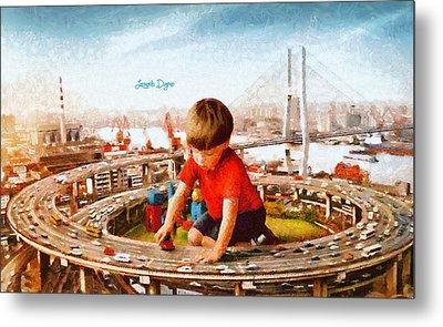 Traffic Engineer - Da Metal Print by Leonardo Digenio