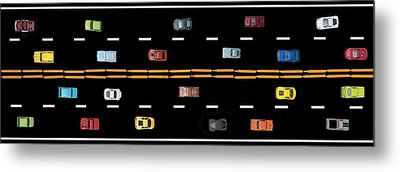 Metal Print featuring the photograph Traffic - Panorama by Nikolyn McDonald