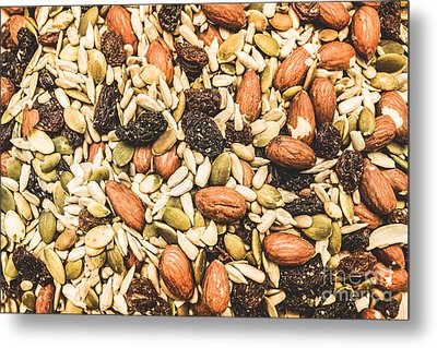 Metal Print featuring the photograph Trail Mix Background by Jorgo Photography - Wall Art Gallery