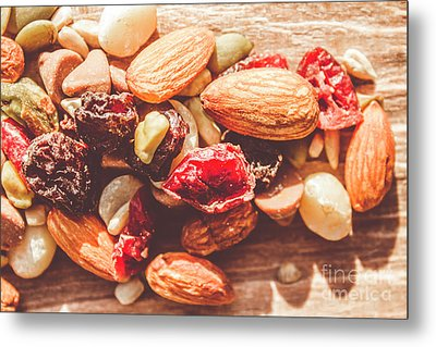 Trail Mix High-energy Snack Food Background Metal Print by Jorgo Photography - Wall Art Gallery