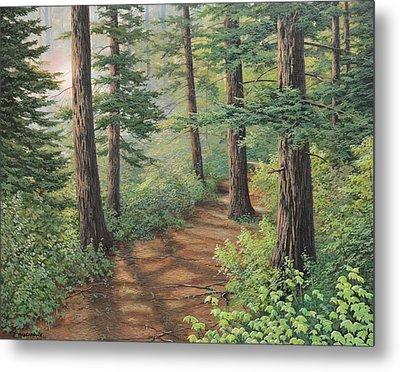 Trail Of Green Metal Print