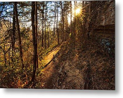 Trail Of Happiness - Blowing Springs Trail Arkansas Metal Print