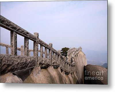 Trail On Mountain Ridge Metal Print by Charline Xia