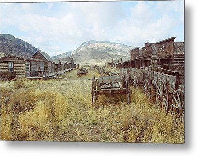 Trail Town Wyoming Metal Print by Brent Easley