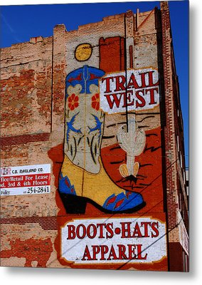 Trail West Mural Metal Print by Susanne Van Hulst