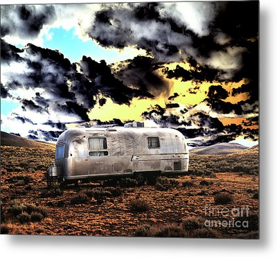Metal Print featuring the photograph Trailer by Jim and Emily Bush