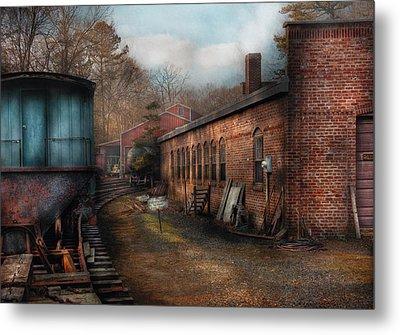 Train - Yard - The Train Yard Metal Print by Mike Savad