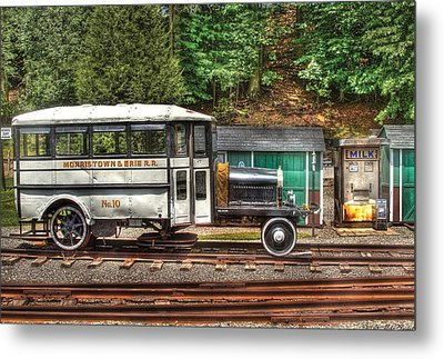 Train - Car - The Rail Bus Metal Print by Mike Savad