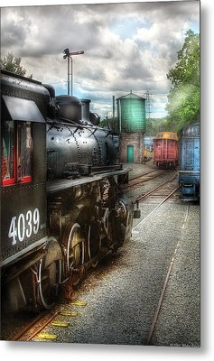 Train - Engine - 4039 - In The Train Yard  Metal Print by Mike Savad