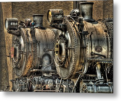 Train - Engine - Brothers Forever Metal Print by Mike Savad