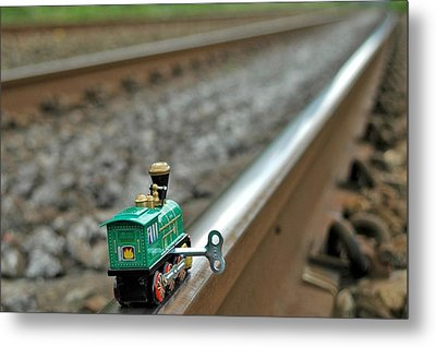 Train On Tracks Metal Print by Bill Kellett