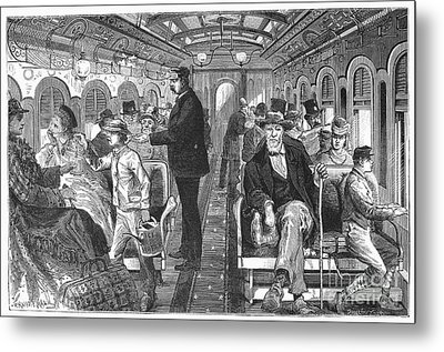 Train: Passenger Car, 1876 Metal Print by Granger