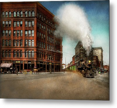 Metal Print featuring the photograph Train - Respect The Train 1905 by Mike Savad