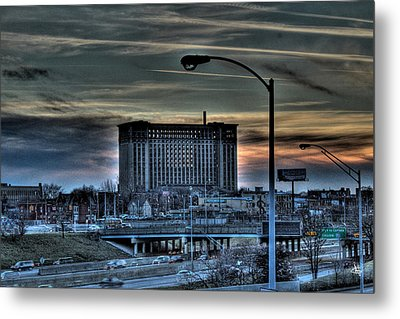 Train Station Detroit Mi Metal Print by Nicholas  Grunas