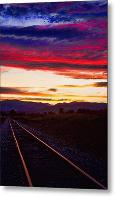 Train Track Sunset Metal Print by James BO  Insogna