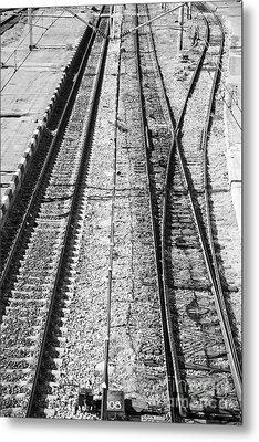 Train Tracks Metal Print by Gabriela Insuratelu