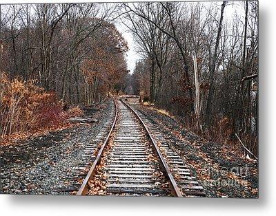 Train Tracks Metal Print by John Rizzuto
