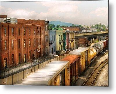 Train - Yard - Train Town Metal Print by Mike Savad