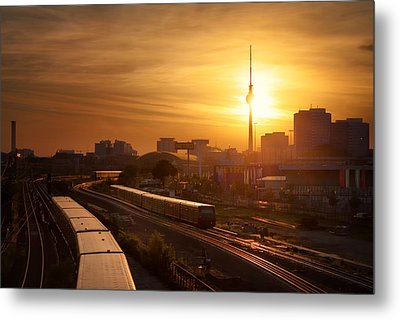 Trains - Berlin Metal Print