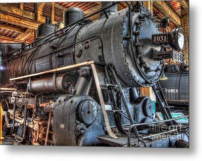 Trains - Steam Locomotive 1031 Side Metal Print