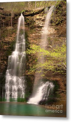 Tranquil Falls In Vertical Metal Print by Tamyra Ayles