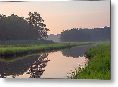 Tranquil Reflections Metal Print by Allan Levin