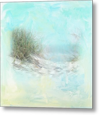 Tranquil Shores - Dunes Metal Print by Amanda Lakey