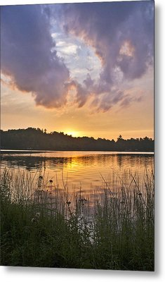 Tranquil Sunset On The Lake Metal Print