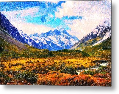 Tranquility In The Highlands Metal Print