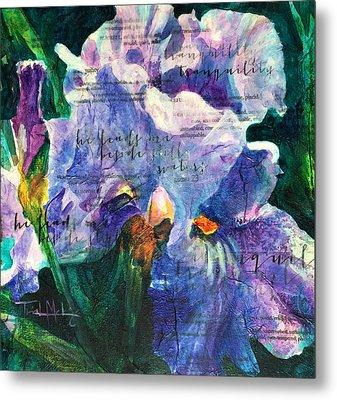 Tranquility - Iris Metal Print by Trish McKinney