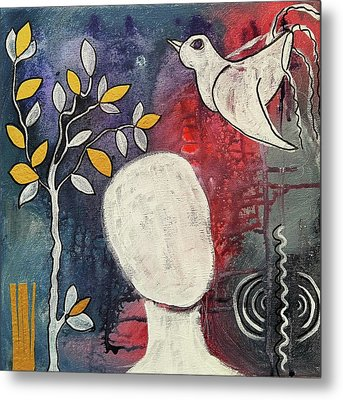 Metal Print featuring the mixed media Tranquility by Mimulux patricia no No