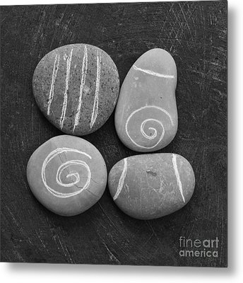 Tranquility Stones Metal Print by Linda Woods