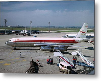 Trans World Airlines Twa Boeing 707 N780tw Metal Print by Wernher Krutein