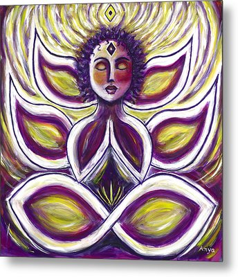 Metal Print featuring the painting Transcendence by Anya Heller