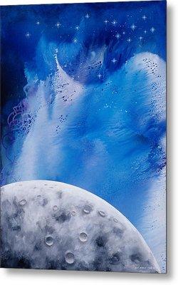 Transcendental Moon Metal Print by Lee Pantas