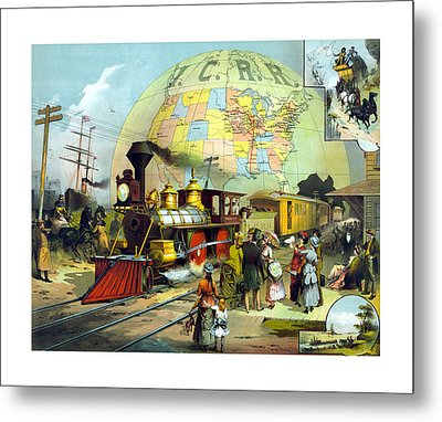 Transcontinental Railroad Metal Print by War Is Hell Store