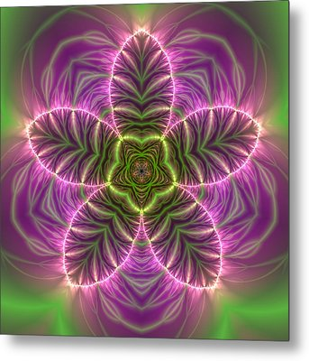 Transition Flower Metal Print