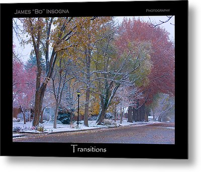 Transitions Autumn To Winter Snow Poster Metal Print by James BO  Insogna