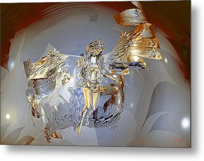 Transparent Angel Metal Print