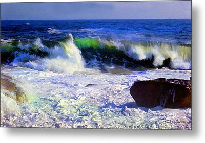 Transparent Wave Metal Print by Frank Wilson