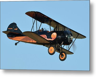 Travel Air D-4-d Nc472n Chino California April 29 2016 Metal Print by Brian Lockett