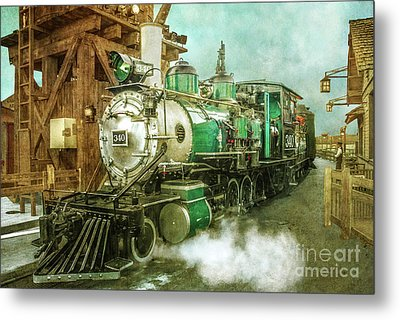 Traveling By Train Metal Print by Claudia Ellis
