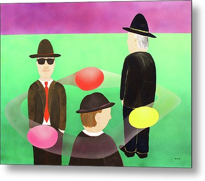 Metal Print featuring the painting Traveling In The Right Business Circles by Thomas Blood