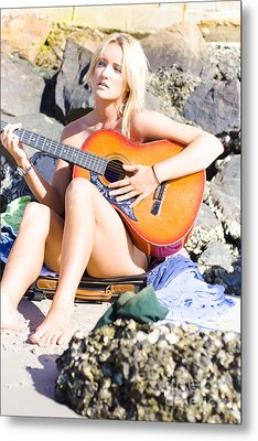 Traveling Musician Metal Print by Jorgo Photography - Wall Art Gallery