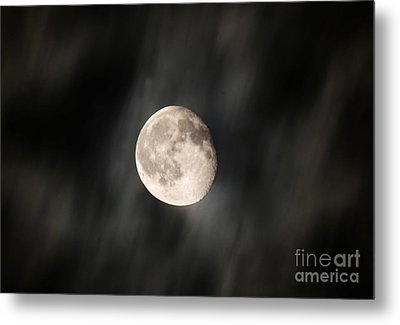 Travelling With Moon Metal Print