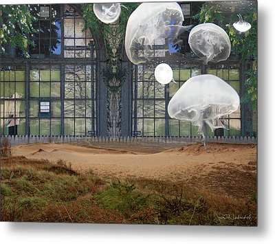 Travels With Jellyfish Metal Print