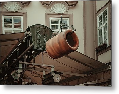 Metal Print featuring the photograph Trdelnik. Prague Architecture by Jenny Rainbow